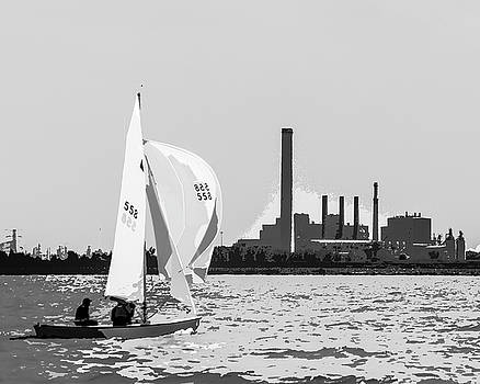 Sailing in Black and White by Michael Arend