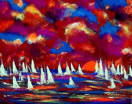 Sailing In Spain by Ted Hebbler