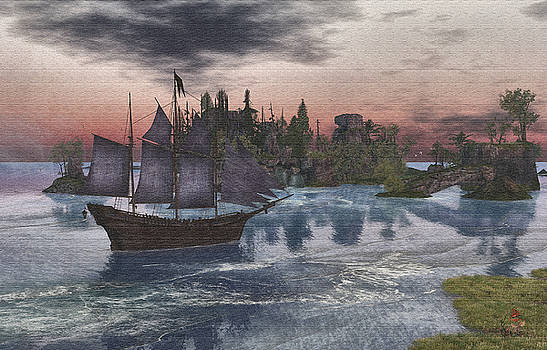 Sailing into Calas Galadhon by Patricia Whitaker
