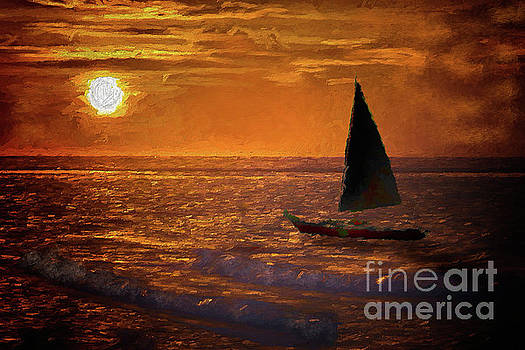 Dan Carmichael - Sailing Into the Sun on the Outer Banks AP