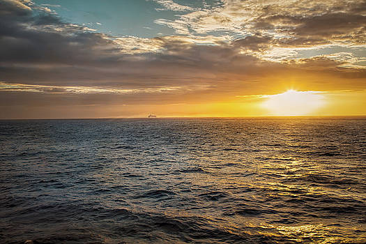 Sailing into the Sunset by John M Bailey