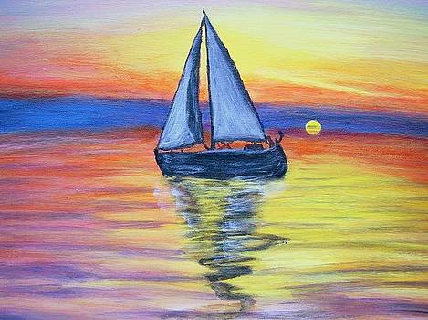 Sailing Into The Sunset by Vickie Wooten