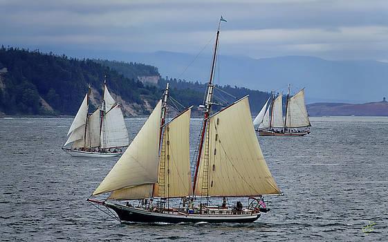 Sailing Juan de Fuca by Rick Lawler