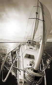 Sailing on a Beneteau 49 Sailboat by Dustin K Ryan