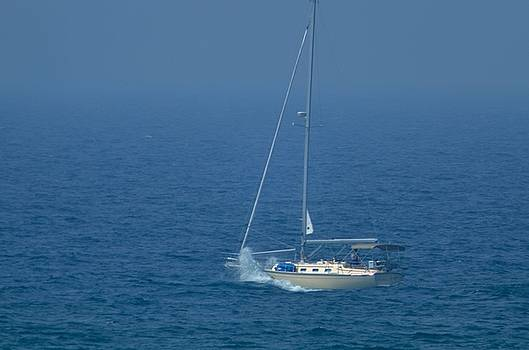Sailing on Lake Michigan by Xcape Photography