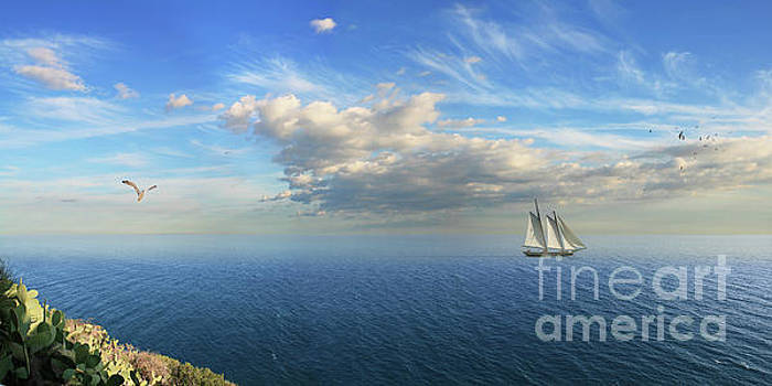 Sailing on the coast of Spain by Monika Juengling