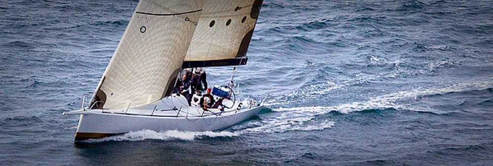 Sailing on The Straits by Sandy Buckley