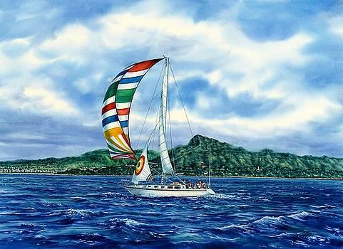 Sailing Over Honolulu Hawaii by John YATO
