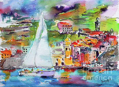 Ginette Callaway - Sailing Past Vernazza Italy