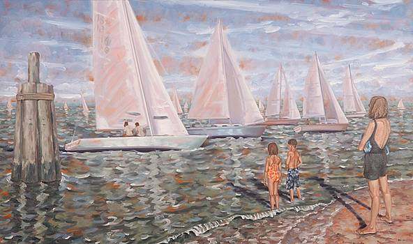 Sailing Race by Gary M Long
