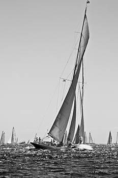 Pedro Cardona Llambias - Sailrace in open sea - vintage vessel of one mast - pedro cardona
