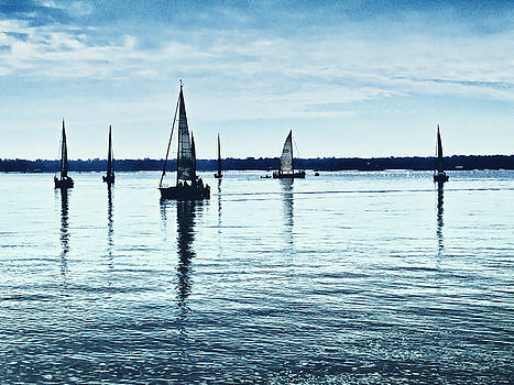 Sails on the Sea by Richard Espenant