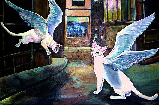 Saint Agnus Miracle Cats by Elizabeth Eve King