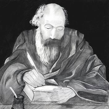 Saint Augustine Philosopher by Bernardo Capicotto