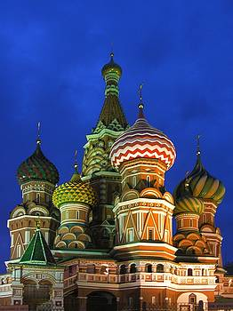 Saint Basil's Cathedral Moscow  by Karin Ubeleis-Jones