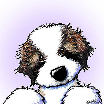 Saint Bernard Puppy by Kim Niles