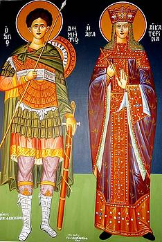 Saint Dimitrios And Saint Aeketerina by George Siaba