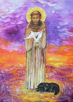 Saint Francis and The Wolf by Ashleigh Dyan Bayer