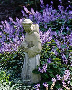 Saint Francis in Lavender by Stephanie Maatta Smith