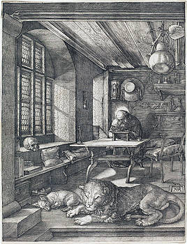 Albrecht Durer - Saint Jerome in His Study