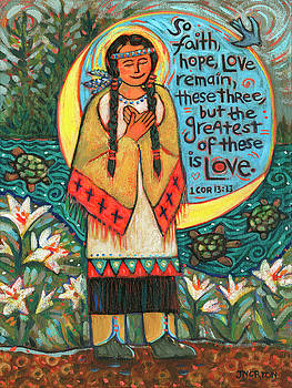 Saint Kateri Tekakwitha by Jen Norton