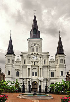 Saint Louis Cathedral 004 by George Bostian