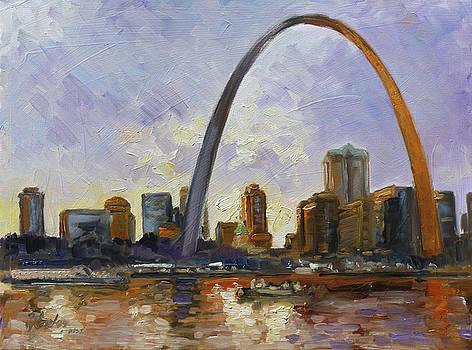 Saint Louis Skyline 3 by Irek Szelag