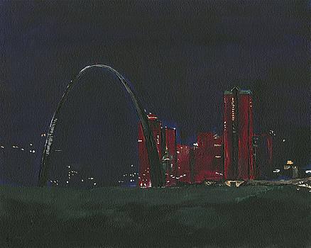 Saint Louis Skyline by Joseph A Langley
