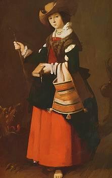 Zurbaran Francisco de - Saint Margaret Dressed As A Shepherdess