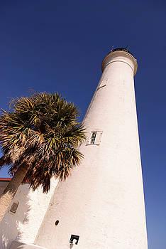 Saint Marks Light House Up Close by Frank Feliciano
