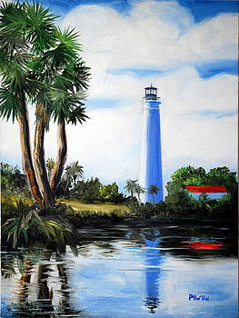 Saint Marks River Light House by Phil Burton
