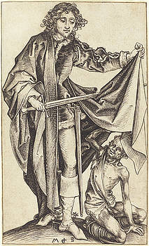 Martin Schongauer - Saint Martin Dividing His Cloak