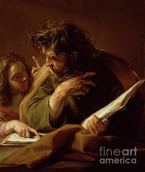 Saint Matthew by Pompeo Girolamo Batoni