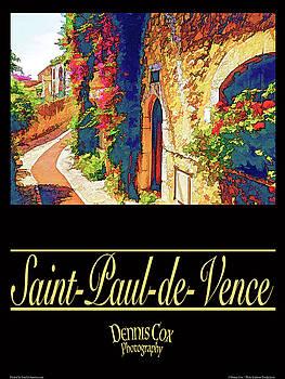 Dennis Cox Photo Explorer - Saint-Paul-de-Vence Travel Poster