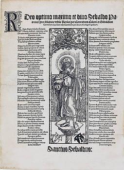 Albrecht Durer - Saint Sebaldus Standing on a Column
