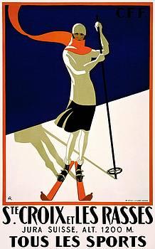 Sainte Croix et Les Rasses, travel poster, 1922 by Vintage Printery