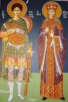 Saints Dimitrius and Aekaterina by George Siaba