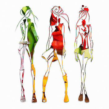 Salad Dressing Fashion by Marvin Blaine