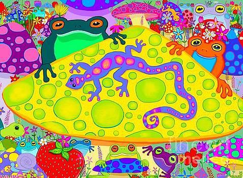 Salamander and Froggies  by Nick Gustafson
