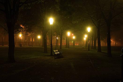 Salem at night by Jeff Folger