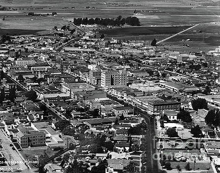 Salinas Downtown	Aerial	 Sept 1930 by California Views Mr Pat Hathaway Archives
