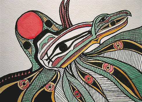 Salishan Style Raven by K Hoover