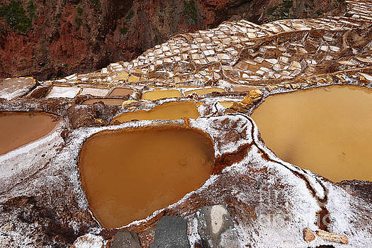 James Brunker - Salt Evaporation Terraces and Ponds at Maras Peru
