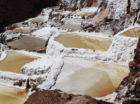 Salt Farms in Peru by Celtic Artist Angela Dawn MacKay