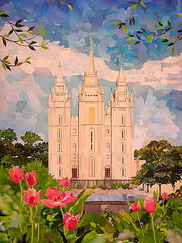 Salt Lake City Temple by Robin Birrell