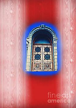 Salt Lake Temple Doors 1 by Richard W Linford