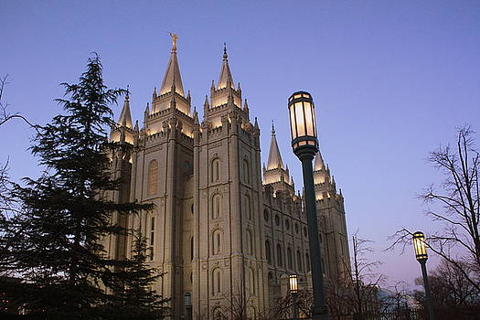 Salt Lake Temple Just before Dawn by Stacy Brower