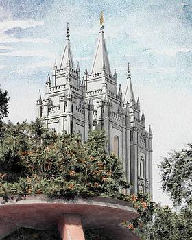 Salt Lake Temple - Watercolor by Brent Borup