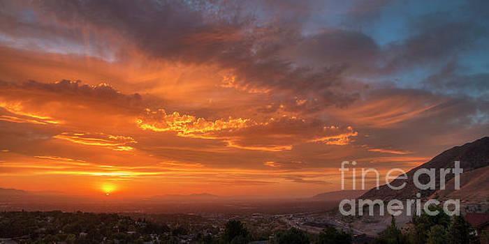 Salt Lake Valley Sunset by Spencer Baugh
