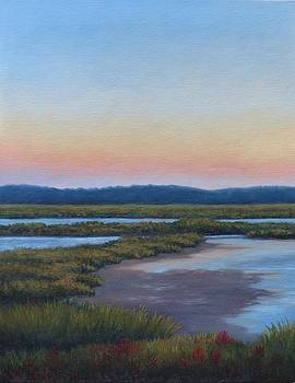 Salt Marsh with algae in September 2015 by Oksana Zotkina